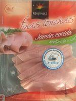 Jambon cuit reduit en sel - Product