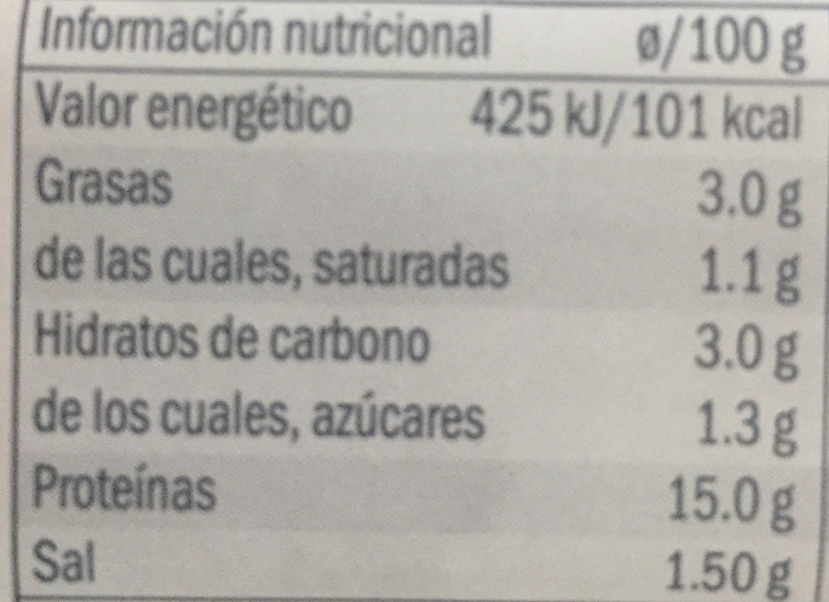 Jambon cuit reduit en sel - Nutrition facts