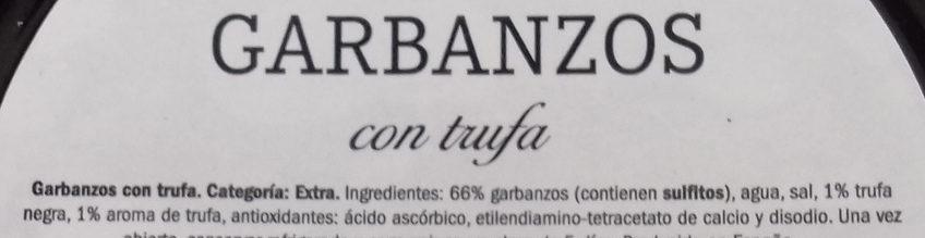 Garbanzos con trufa - Ingredientes