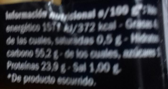 Garbanzos con trufa - Información nutricional