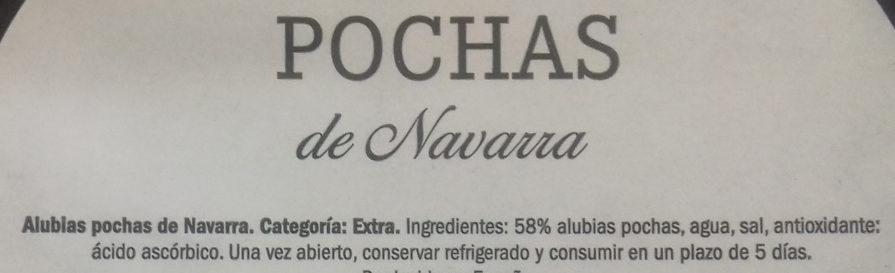 Pochas de Navarra - Ingredientes