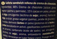Captain rondo cacao - Ingredientes - es