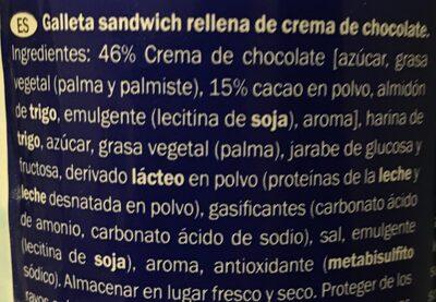 Captain rondo cacao - Ingredientes