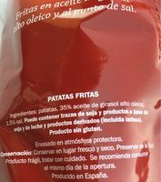 Chips - Ingredients