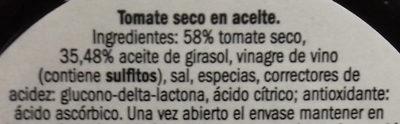 Tomate seco en aceite - Ingrédients - es