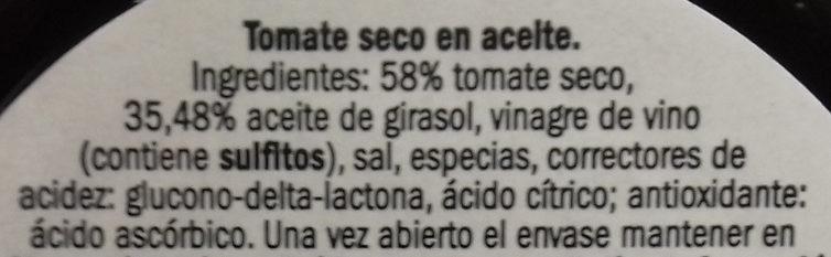 Tomate seco - Ingredientes - es