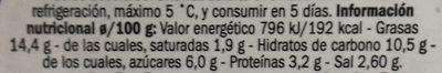 Tomate seco en aceite - Informations nutritionnelles - es