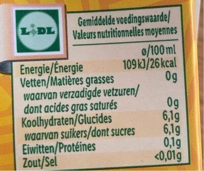 jus d'orange - Valori nutrizionali - fr