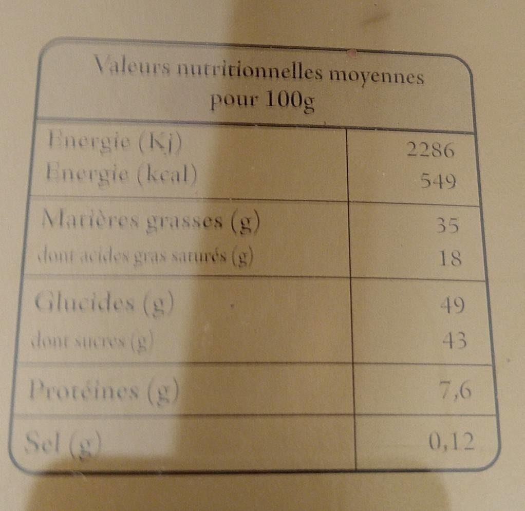 18 bonbons de chocolat assortis - Voedingswaarden - fr