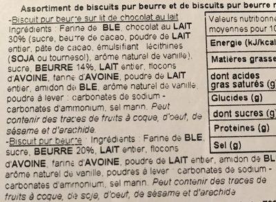 Biscuits Pur Beurre et Biscuits Pur Beurre Nappés de Chocolat - Ingredients - fr