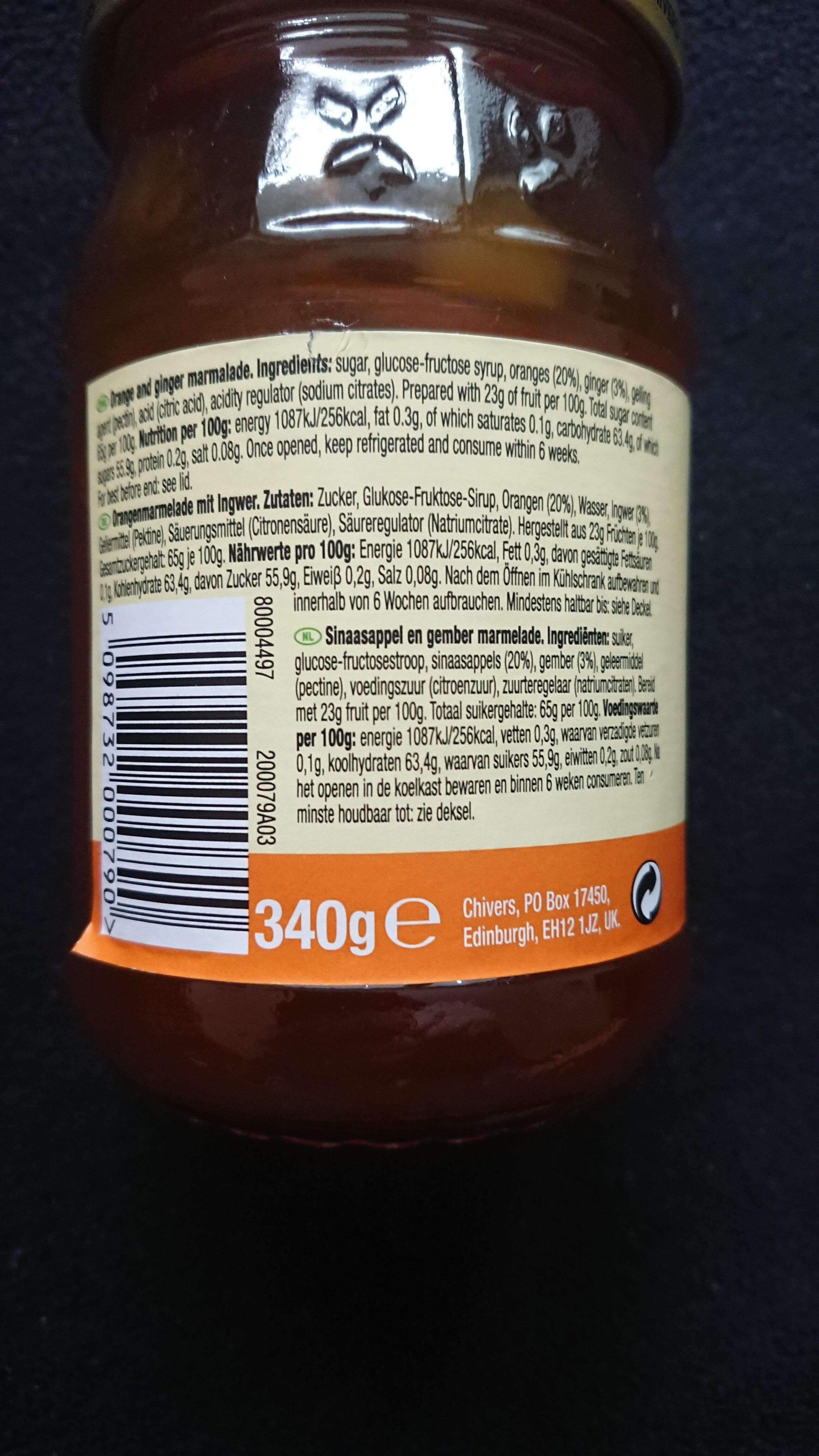 Orange & Ginger Marmalade - Zutaten - de