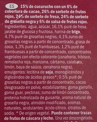 Ecorino Red Fruit - Ingredientes