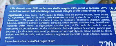 Gelatelli - Ecorino red fruit - Ingrédients - fr