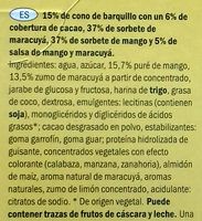 Ecorino mangue passion - Ingredientes