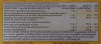 Ecorino mangue passion - Informació nutricional - fr