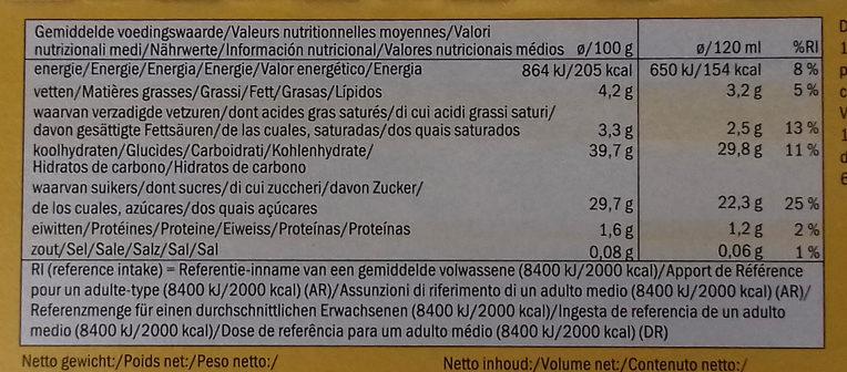 Ecorino mangue passion - Informations nutritionnelles - fr