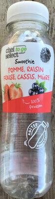 Smoothie pomme, raisin, fraise, cassis, mûre - Product