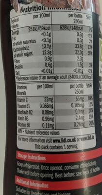 Super smoothie - Voedigswaarden