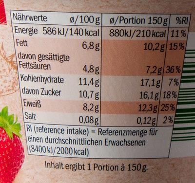 Bio Frucht Quark Erdbeere - Informations nutritionnelles