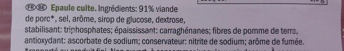 Épaule cuite - Ingrédients - fr