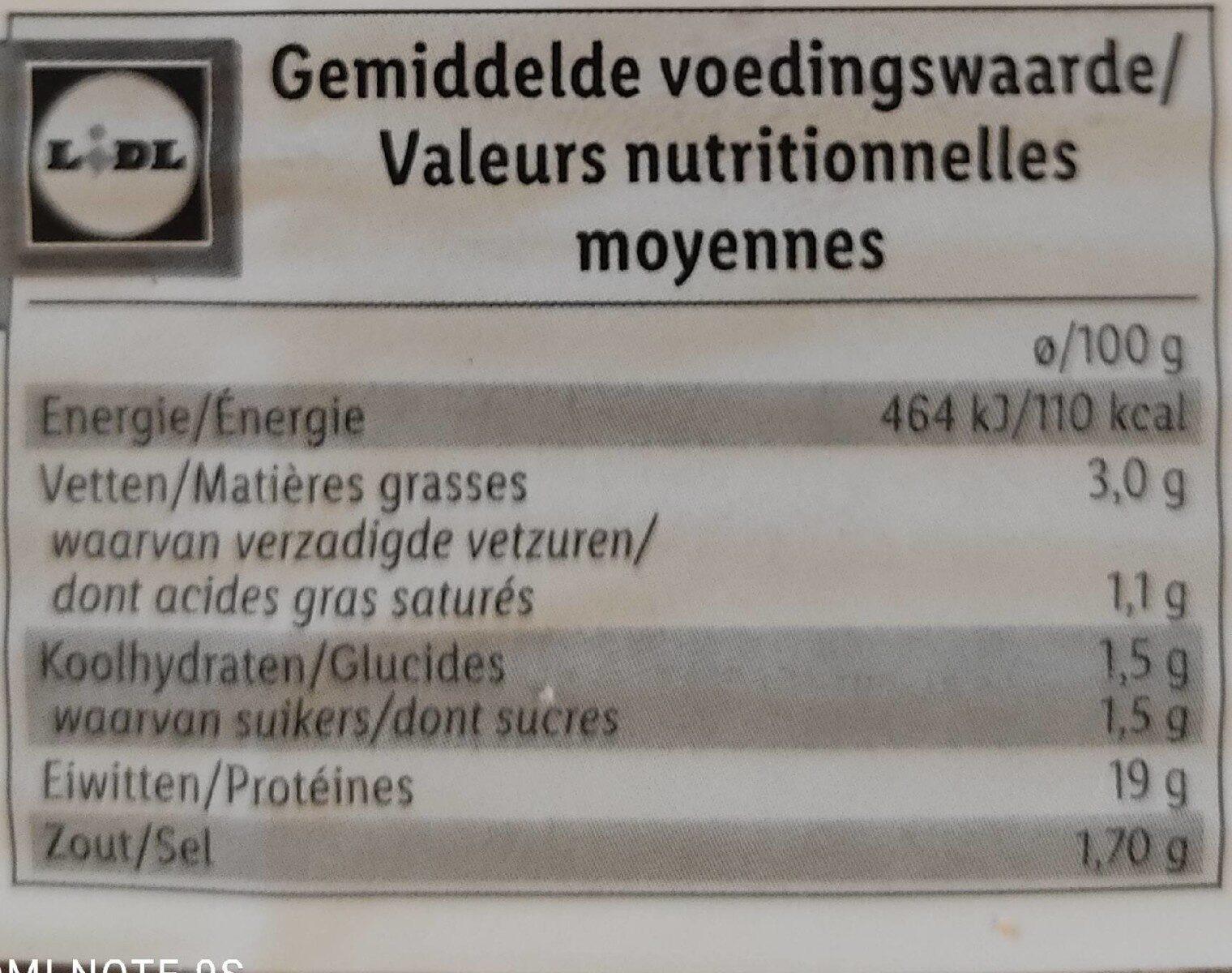 Épaule cuite - Informations nutritionnelles - fr