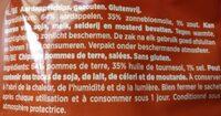 Chips - Ingredients - fr