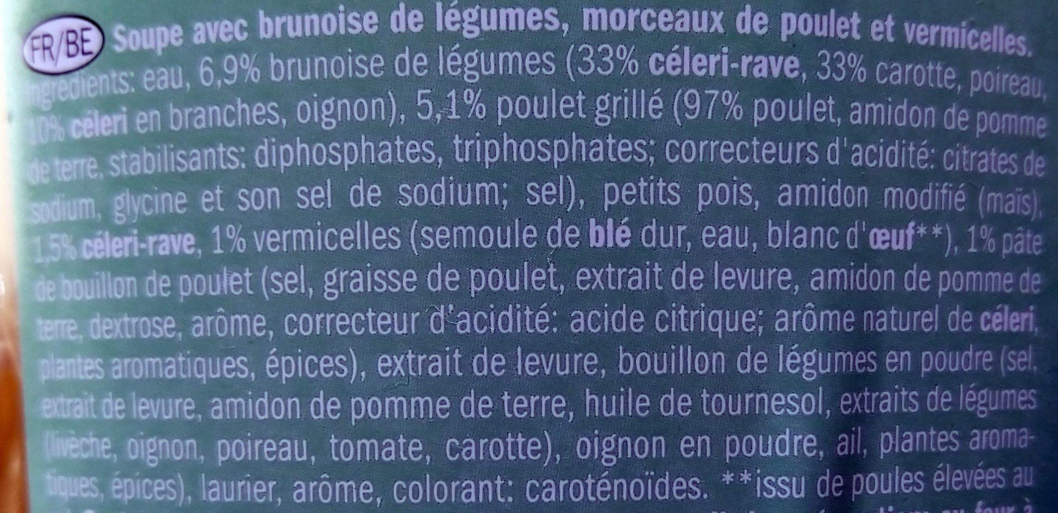 Soupe au poulet - Ingrediënten - fr