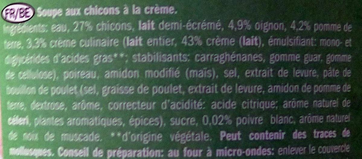 Soupe aux chicons - Ingrédients