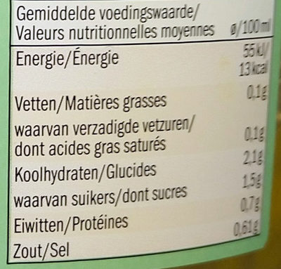 Soupe au potiron - Voedingswaarden