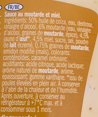 Sauce miel moutarde - Ingrédients - fr