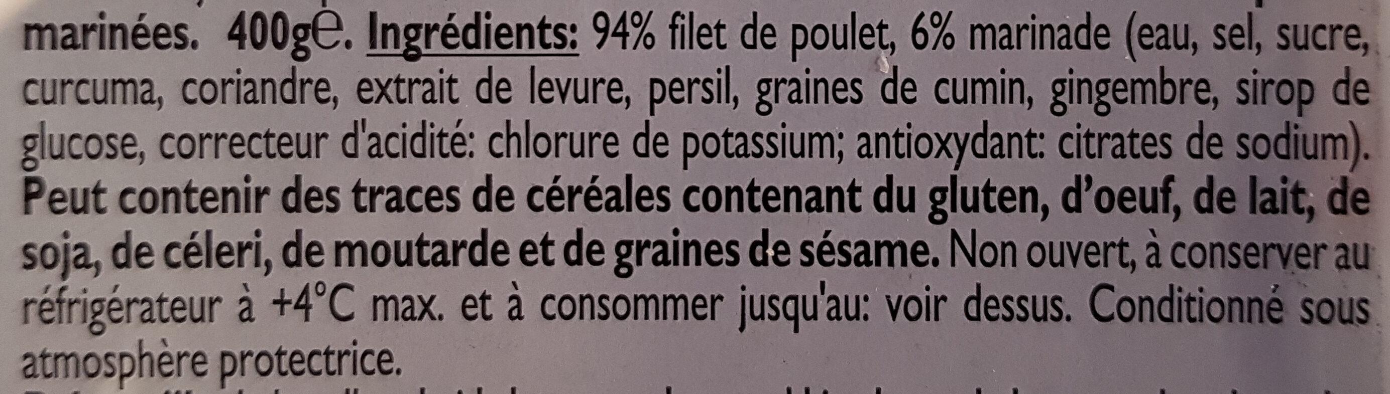 Émincé de poulet - Ingrédients - fr