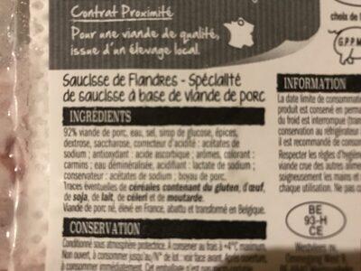 Saucisses de flandres - Product - fr
