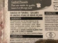Saucisses de flandres - Ingredients - fr