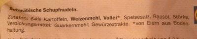 Chef Select Schwäbische Schupfnudeln - Ingredienti - de