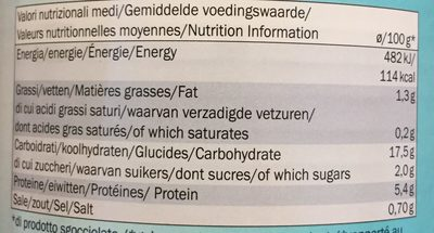 Pois Chiches - Informations nutritionnelles - fr