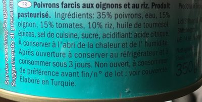 Stuffed Pepper - Ingredients - fr