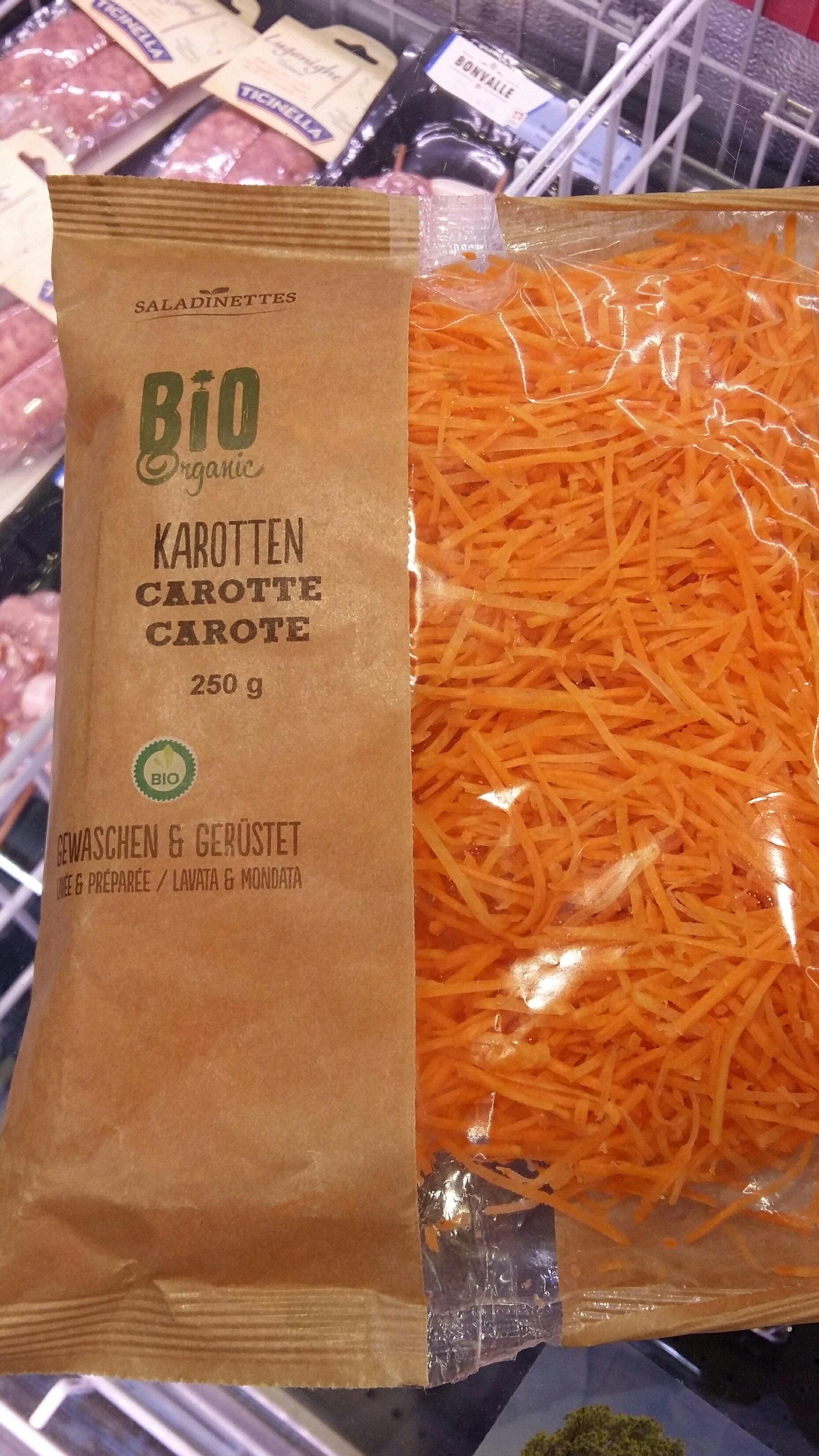 carottes bio - Ingrediënten - fr