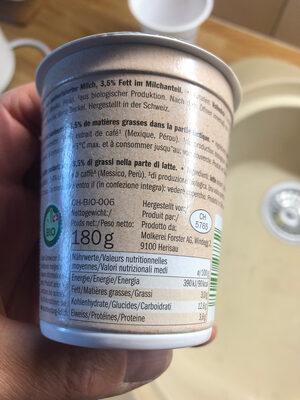 Bio joghurt - Ingrediënten