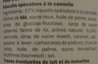 Speculoos à tartiner crémeux - Ingredients - fr