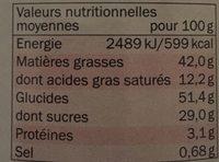 Speculoos à tartiner crémeux - Nutrition facts - fr