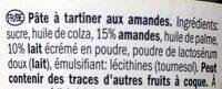 Almond spread - Ingrediënten
