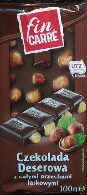 Czekolada deserowa z całymi orzechami laskowymi - Product - pl