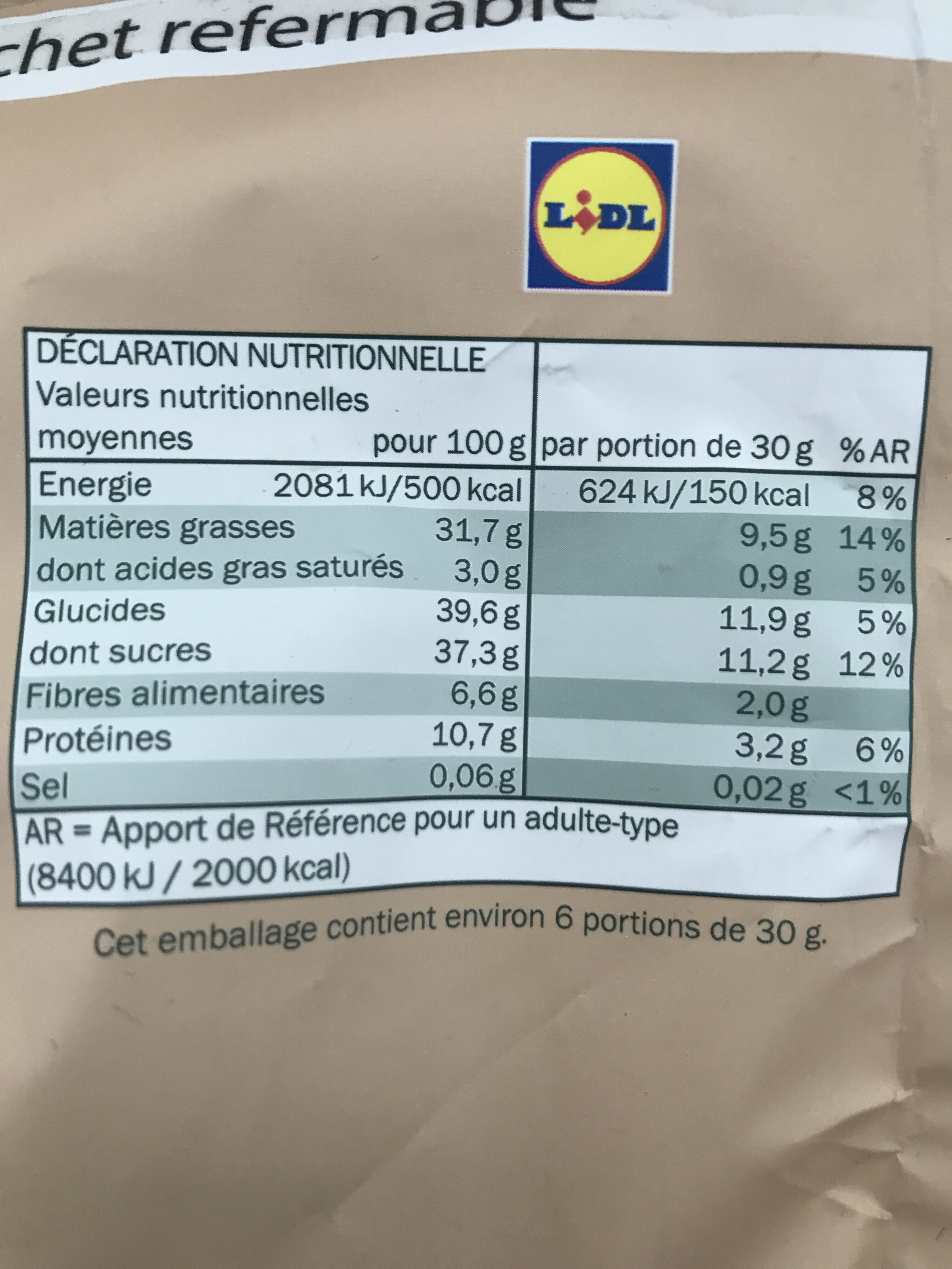 Alesto Nuss-Frucht-Mix - Informations nutritionnelles - fr