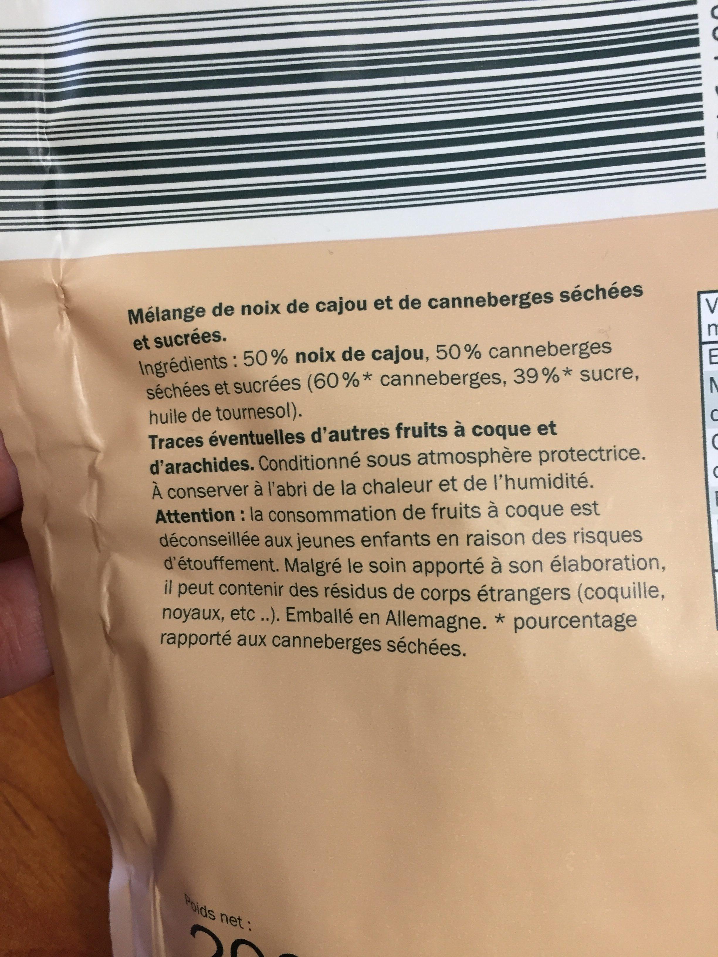 Mix anacardos y arandanos - Ingrediënten - de
