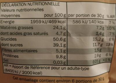Cashew-Cranberry-Mix - Informations nutritionnelles - fr