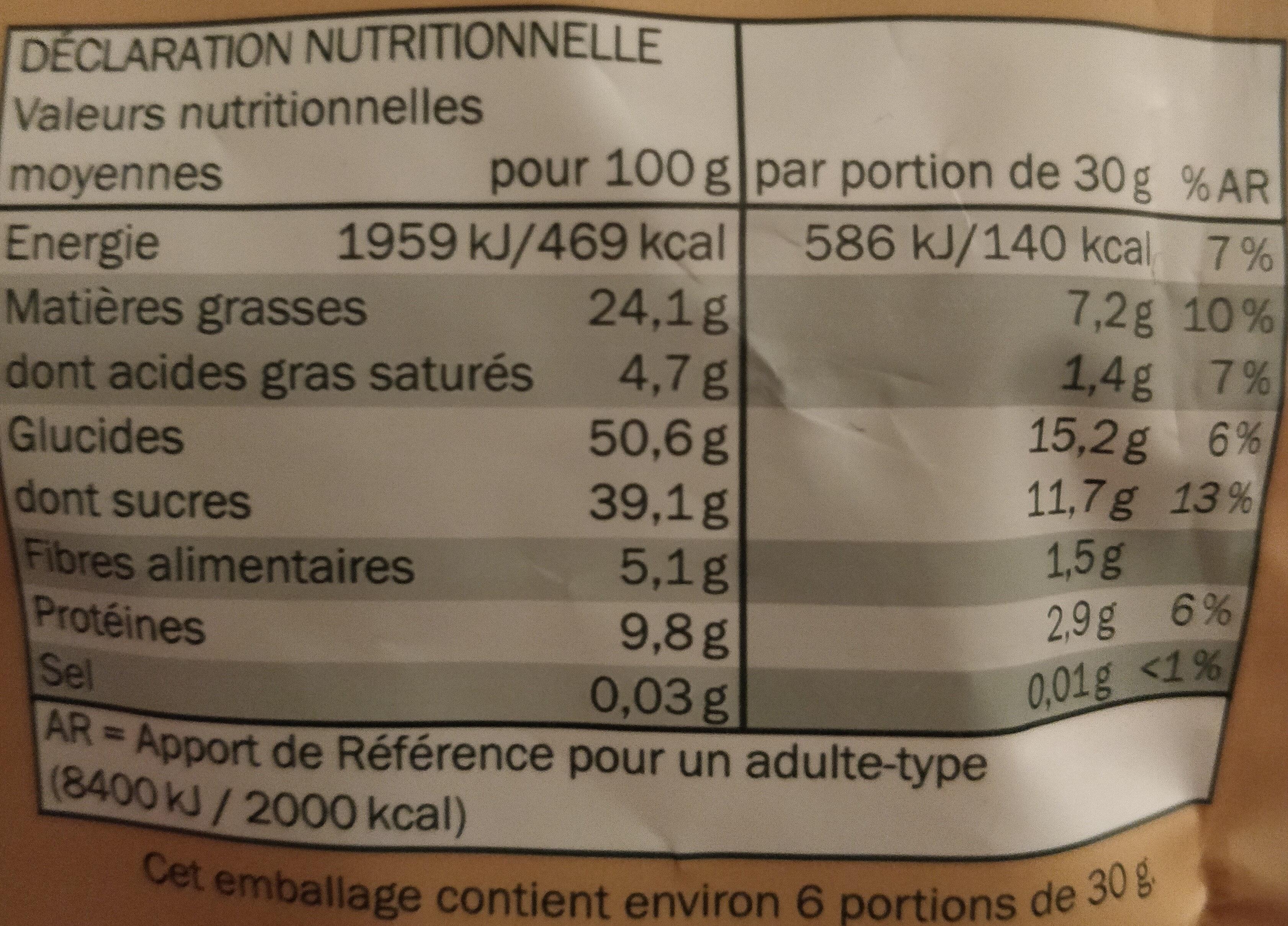 Cashew-Cranberry-Mix - Informations nutritionnelles