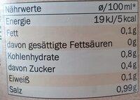 Hühner Brühe - Valori nutrizionali - fr