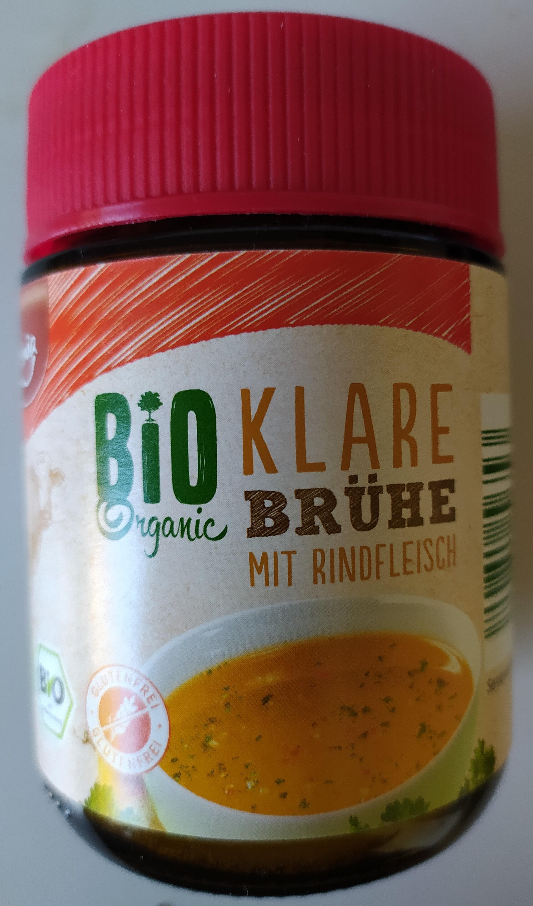 Bio Klare Brühe mit Rindfleisch - Product - de