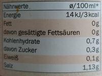 Bio Klare Brühe mit Rindfleisch - Nutrition facts - de