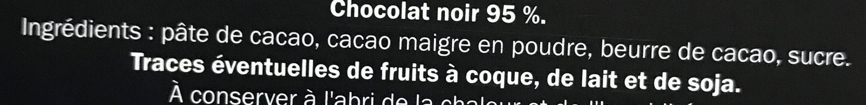 Chocolat noir Ecuador 95% cacao - Ingredientes